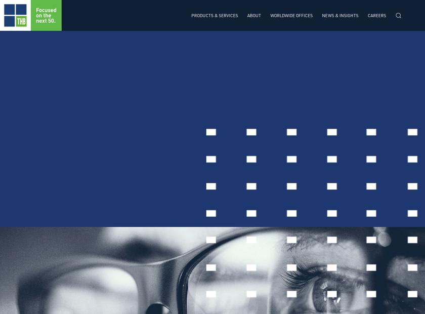 THB Group plc homepage screenshot