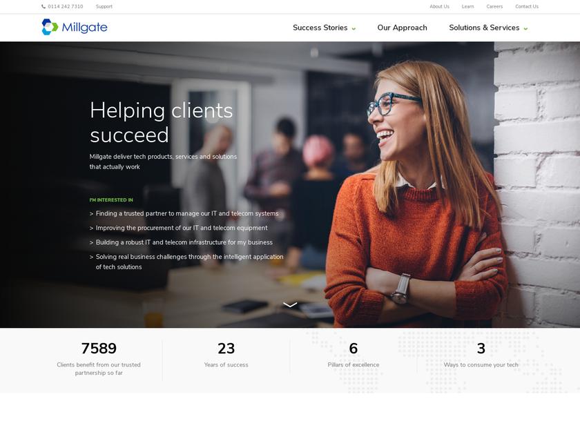 Millgate Computer Systems Ltd homepage screenshot