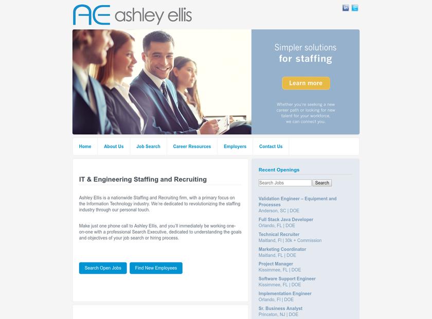 Ashley Ellis LLC homepage screenshot