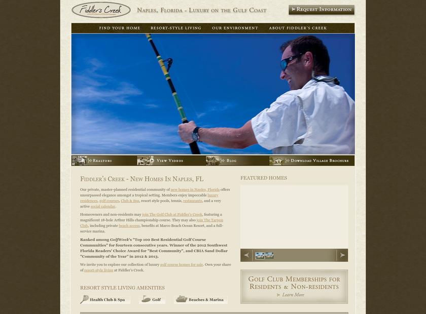 Fiddler's Creek LLC homepage screenshot