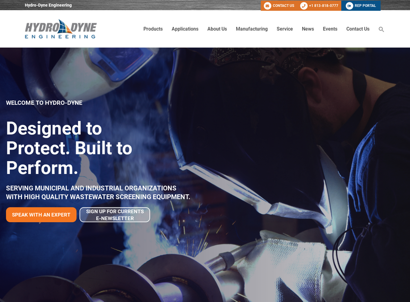 Hydro-Dyne Engineering Inc homepage screenshot