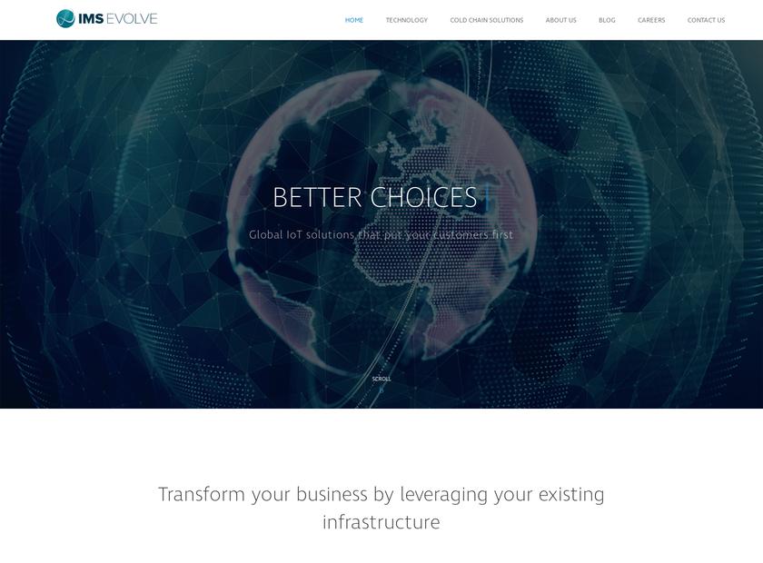 IMS evolve Limited homepage screenshot