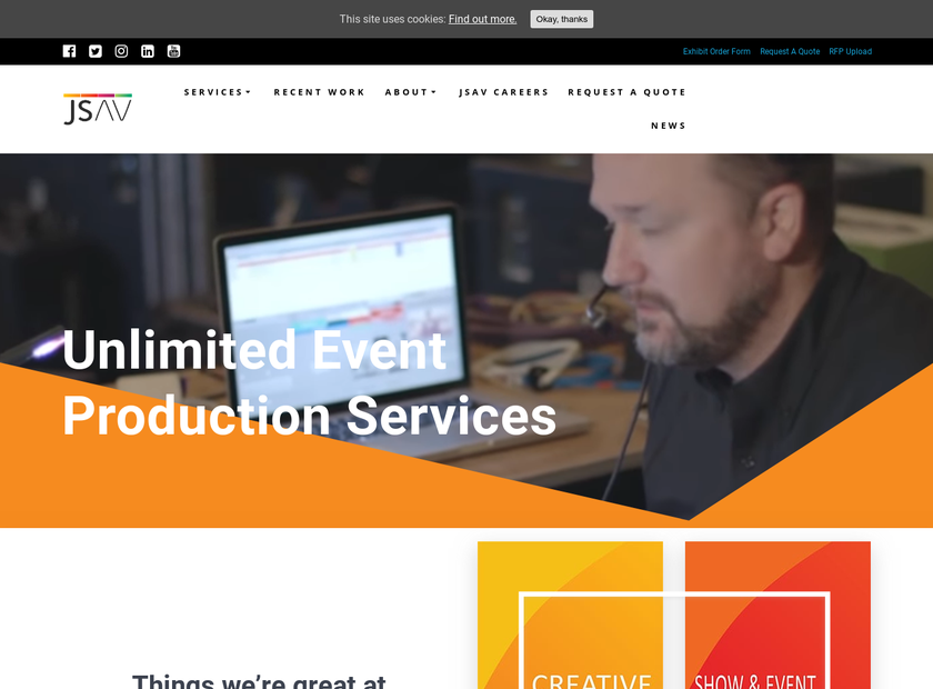 J&S Audio Visual , Inc. homepage screenshot