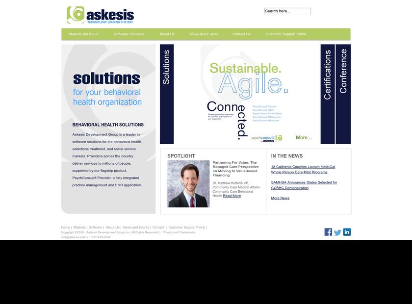Askesis Development Group , Inc. homepage screenshot