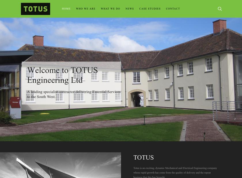 Totus Engineering Ltd homepage screenshot
