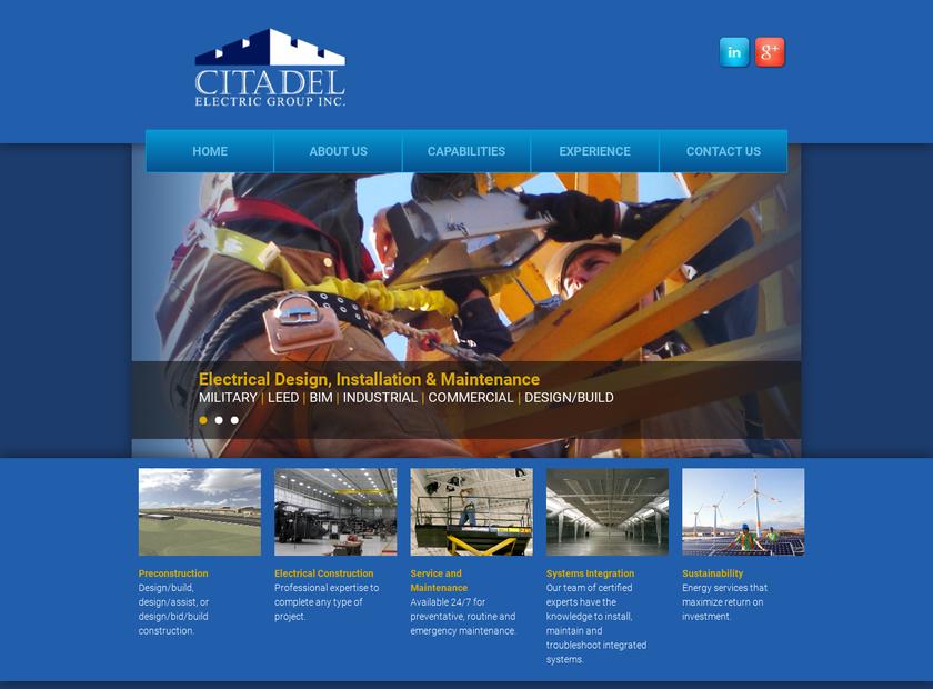 Citadel Electric Group, Inc. homepage screenshot