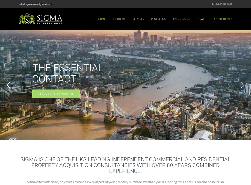 Sigma Company homepage screenshot