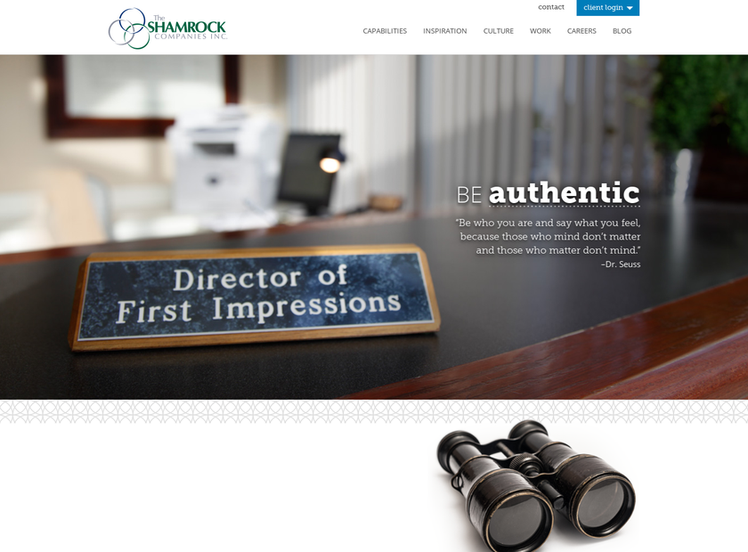 The Shamrock Companies homepage screenshot