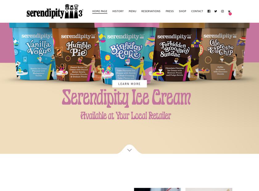 Serendipity 3 homepage screenshot