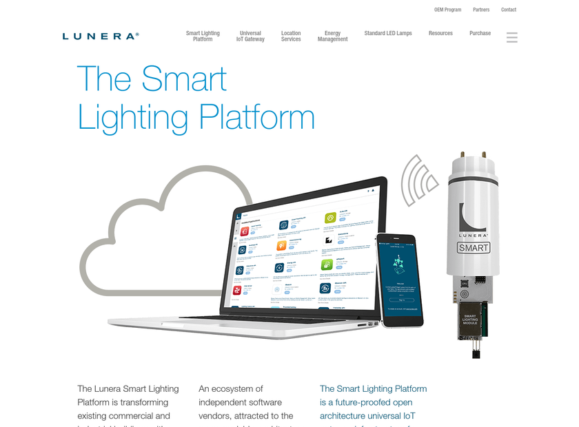 LUNERA LIGHTING INC homepage screenshot
