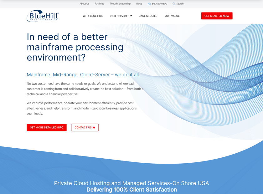 Blue Hill Data Services Inc homepage screenshot