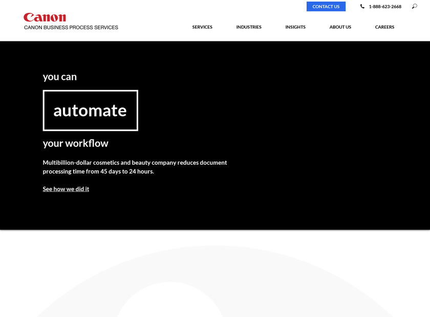 Canon Business Process Services, Inc. homepage screenshot