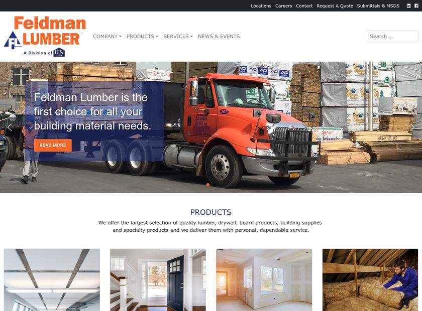 Feldman Lumber Co. Inc homepage screenshot
