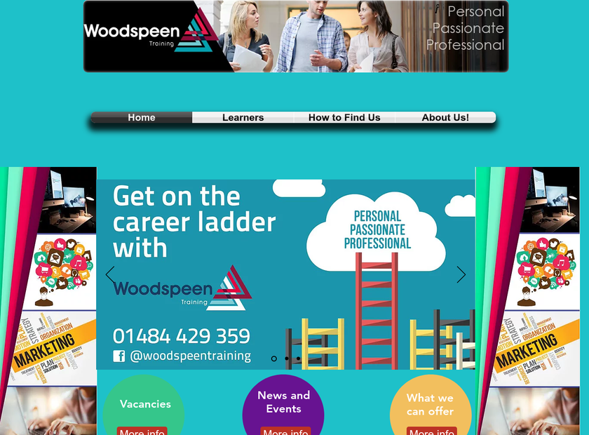 WoodSpeen Training homepage screenshot