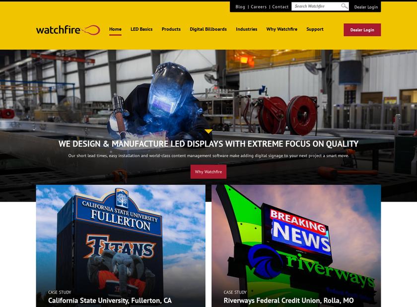 Watchfire Digital Outdoor homepage screenshot