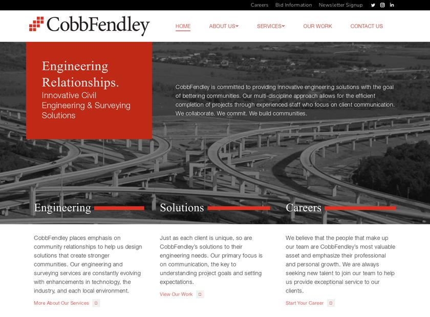 Cobb Fendley & Associates Inc homepage screenshot