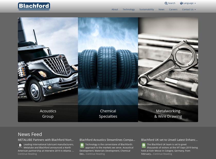 Blachford Incorporated homepage screenshot