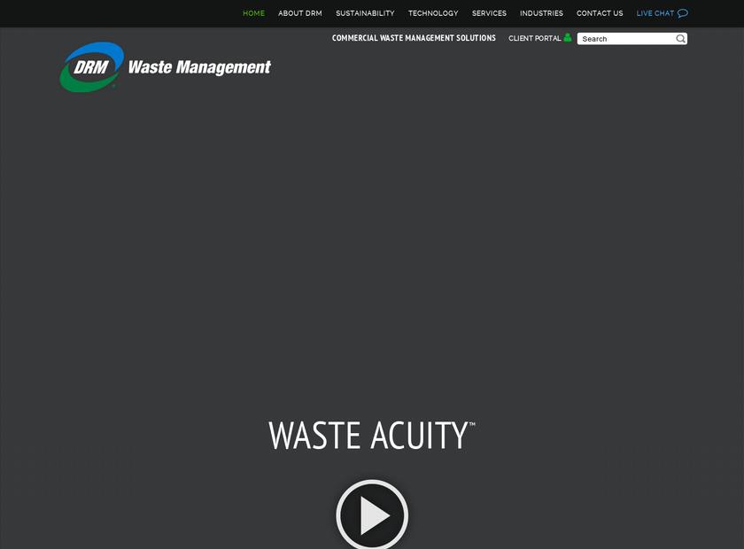 DRM Waste Management homepage screenshot