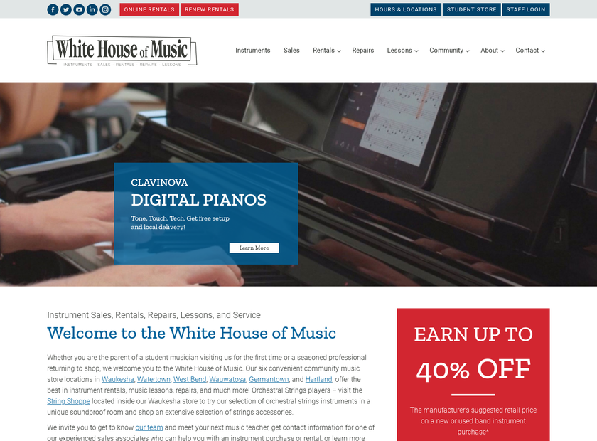 White House homepage screenshot
