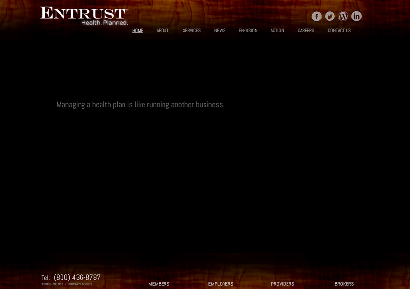 Entrust Inc homepage screenshot