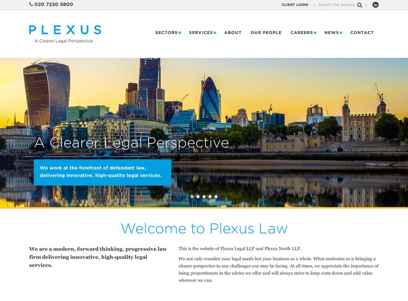 Plexus Law Limited homepage screenshot