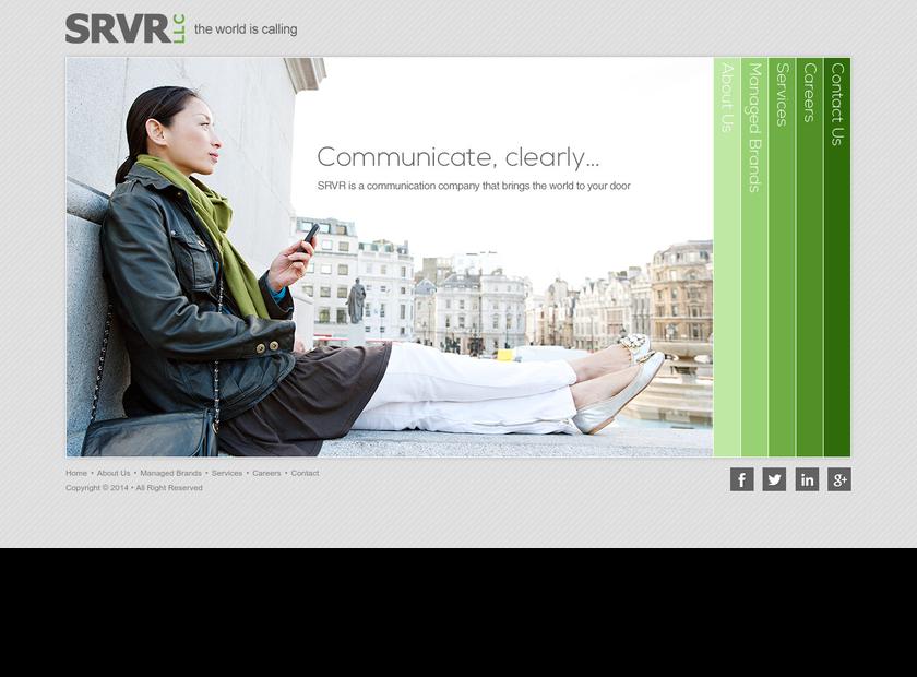 SRVR, LLC homepage screenshot