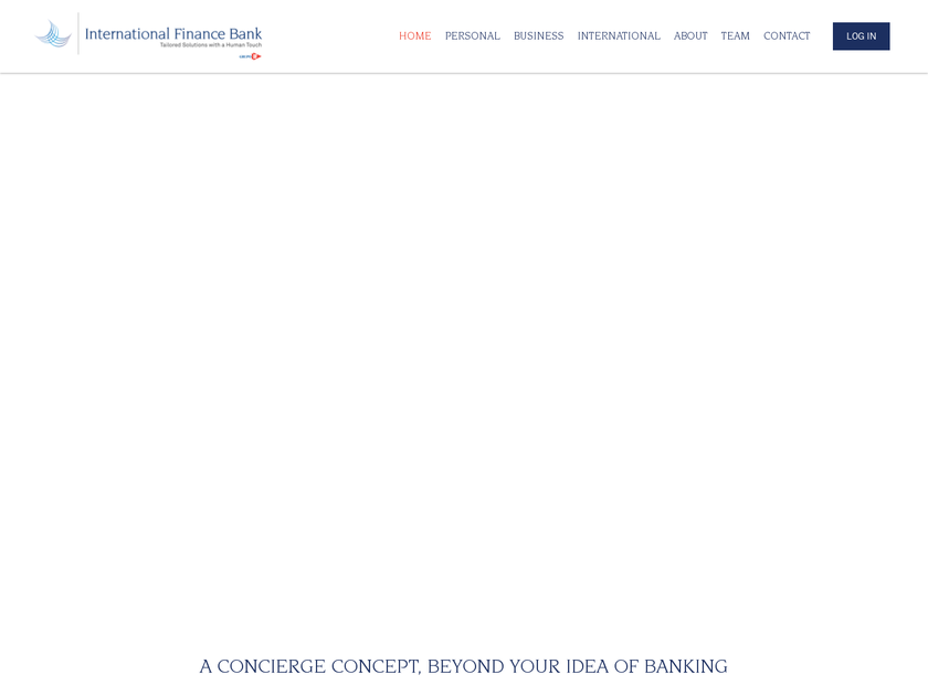 International Finance Bank Inc homepage screenshot