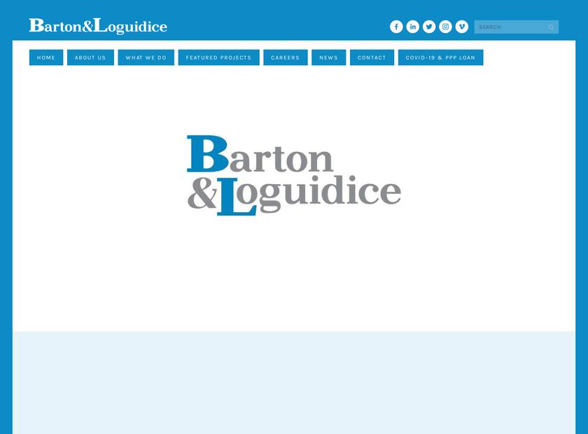 Barton & Loguidice , P.C. homepage screenshot