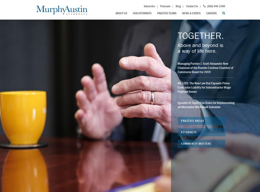 Murphy Austin Adams Schoenfeld LLP homepage screenshot