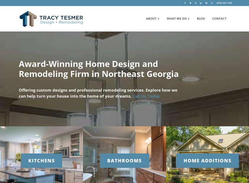 Tracy Tesmer Design/Remodeling homepage screenshot