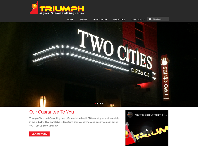 Triumph Signs & Consulting Inc homepage screenshot