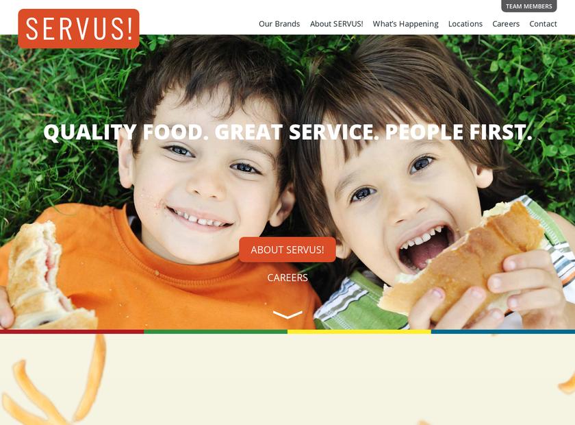 SERVUS! homepage screenshot