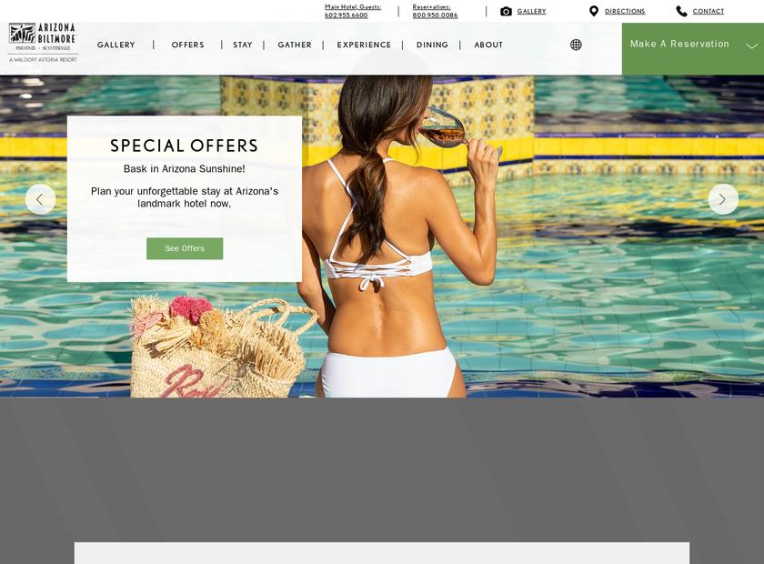 Arizona Biltmore homepage screenshot