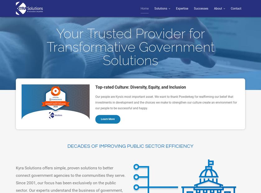 Kyra InfoTech Inc homepage screenshot