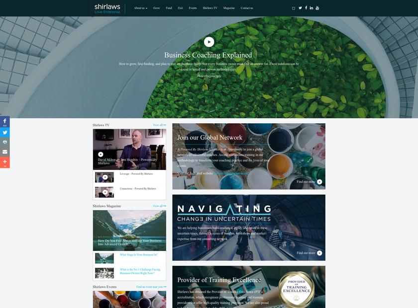 Shirlaws Group Ltd homepage screenshot