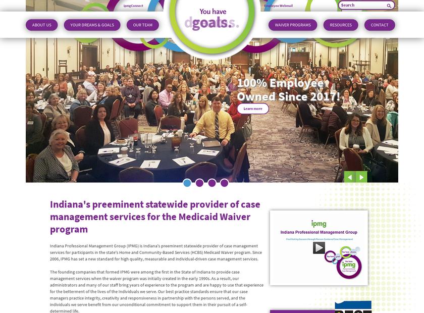 Indiana Professional Management Group Inc homepage screenshot