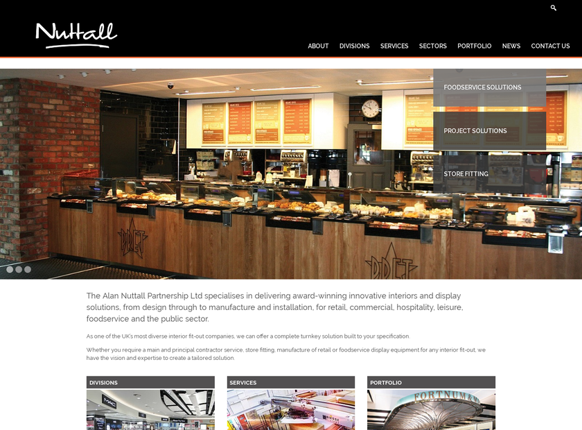Alan Nuttall Ltd homepage screenshot