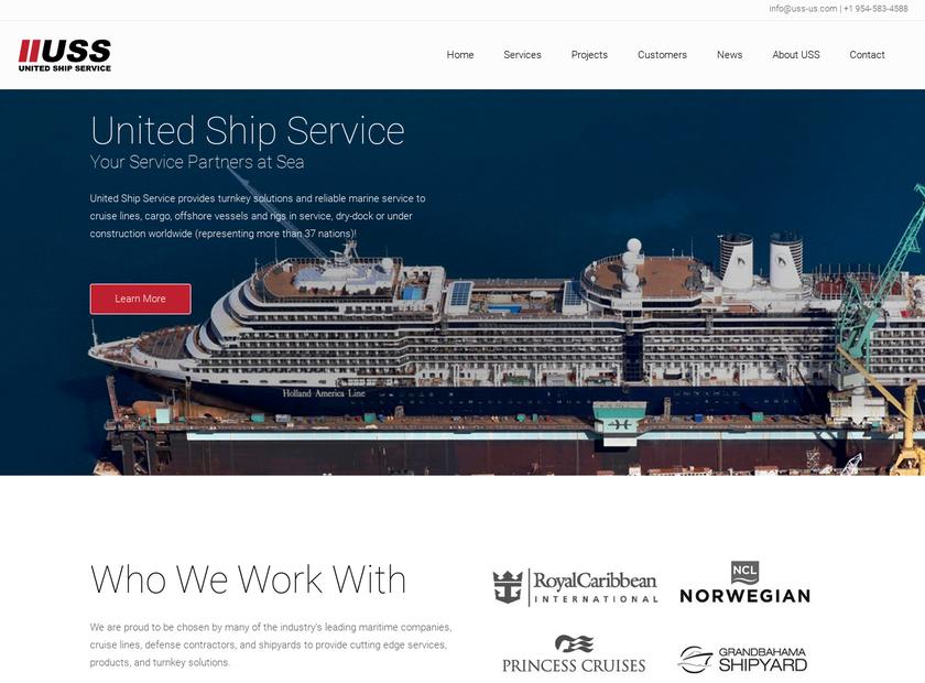 United Ship Service Inc homepage screenshot