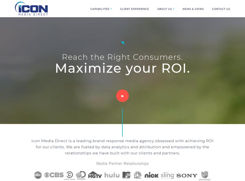 Icon Media Direct Inc. homepage screenshot