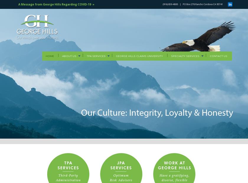 George Hills Company Inc homepage screenshot