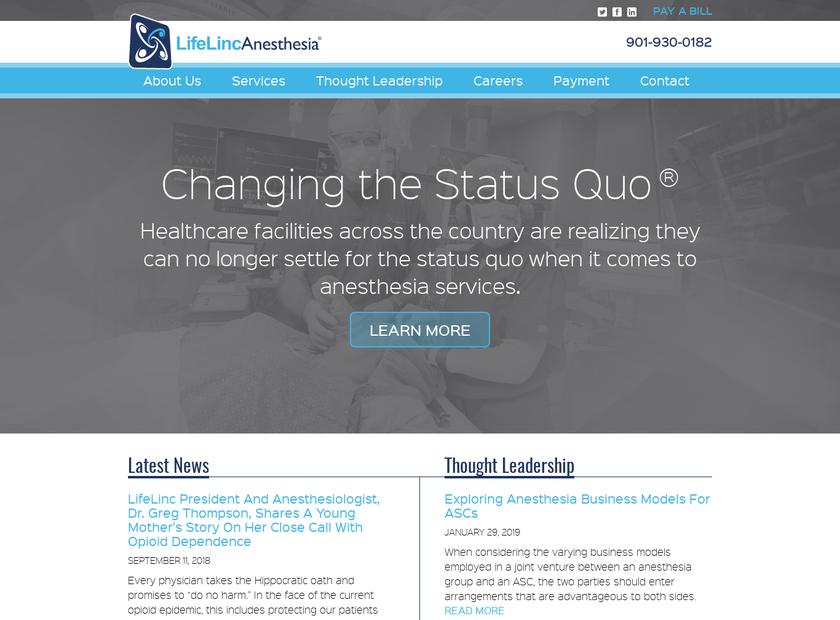 LifeLinc Corporation homepage screenshot