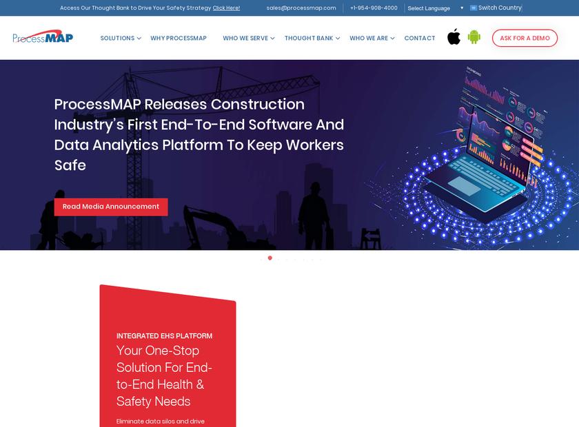 ProcessMAP Corporation homepage screenshot