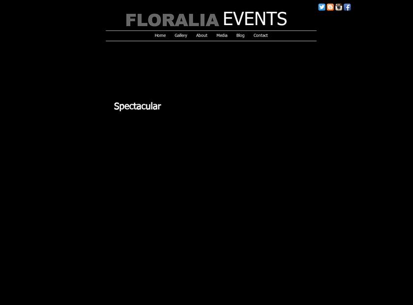 Floralia Decorators homepage screenshot