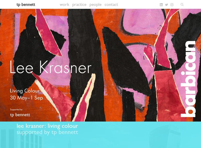 tp bennett homepage screenshot