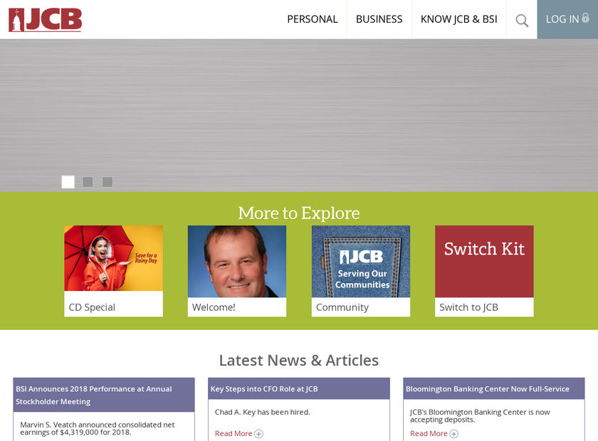 Jackson County Bank homepage screenshot