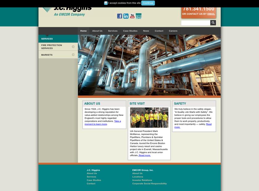 J.C. Higgins Corp. homepage screenshot