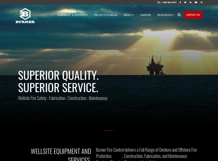 Burner Fire Control Inc homepage screenshot