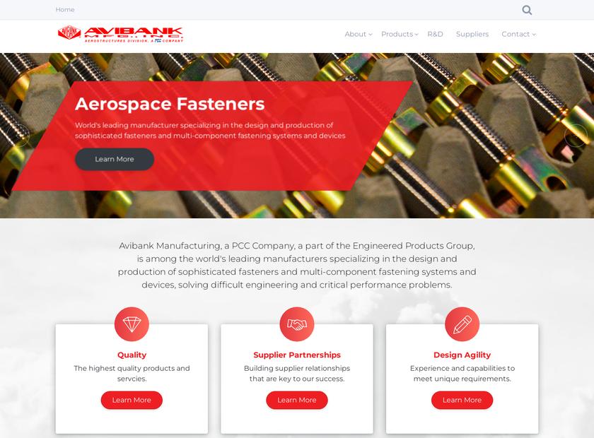 Avibank Mfg. Inc homepage screenshot