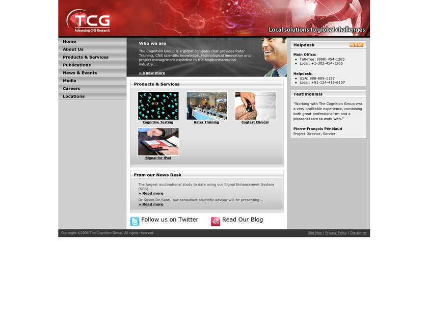 The Cognition Group Inc homepage screenshot