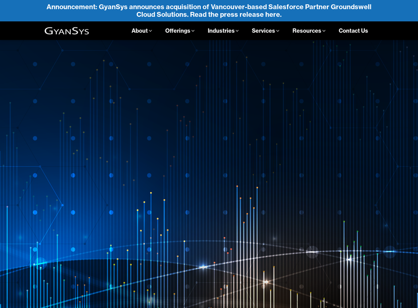 GyanSys Inc homepage screenshot